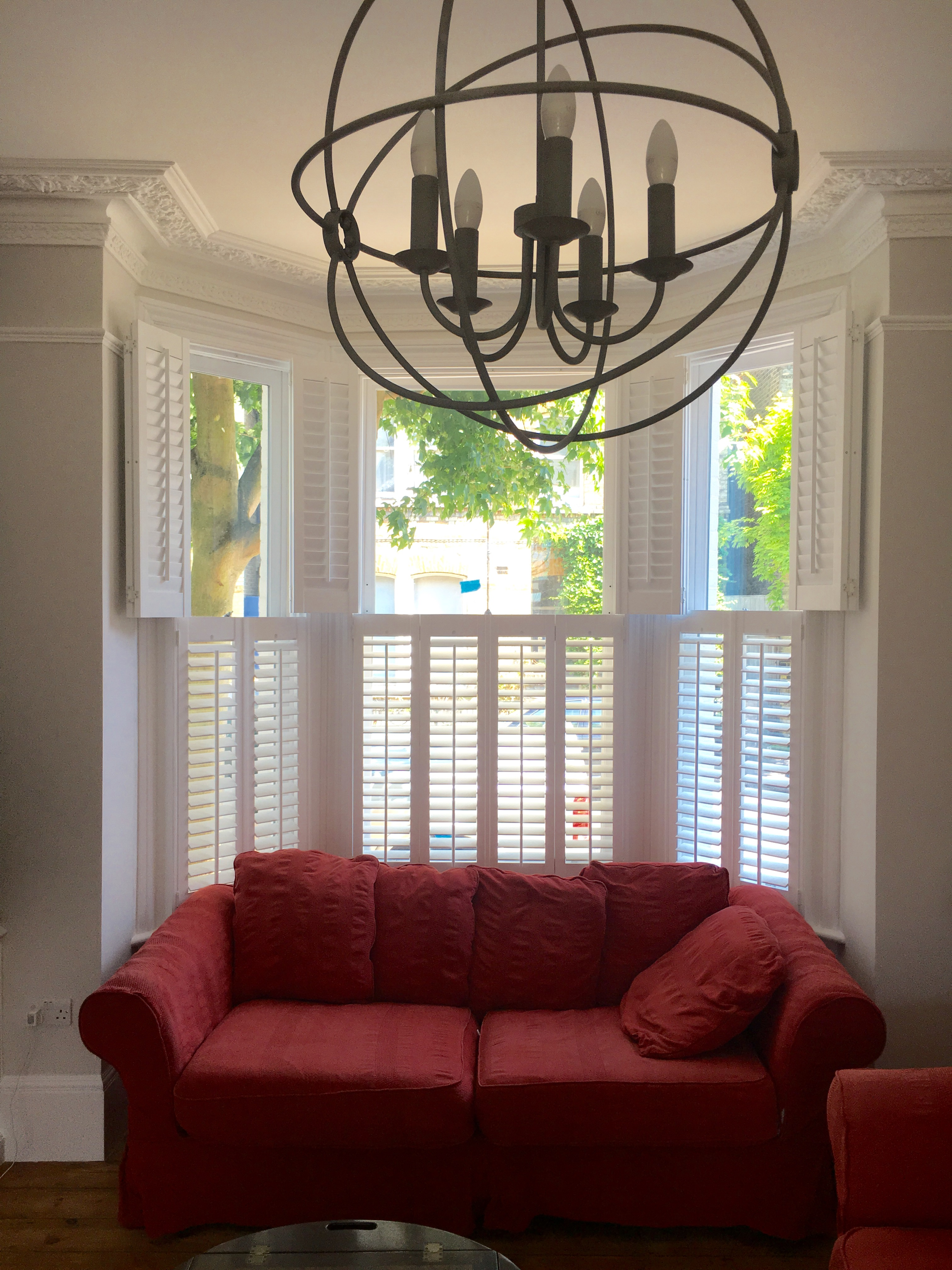 Hardwood Bay Window Shutters
