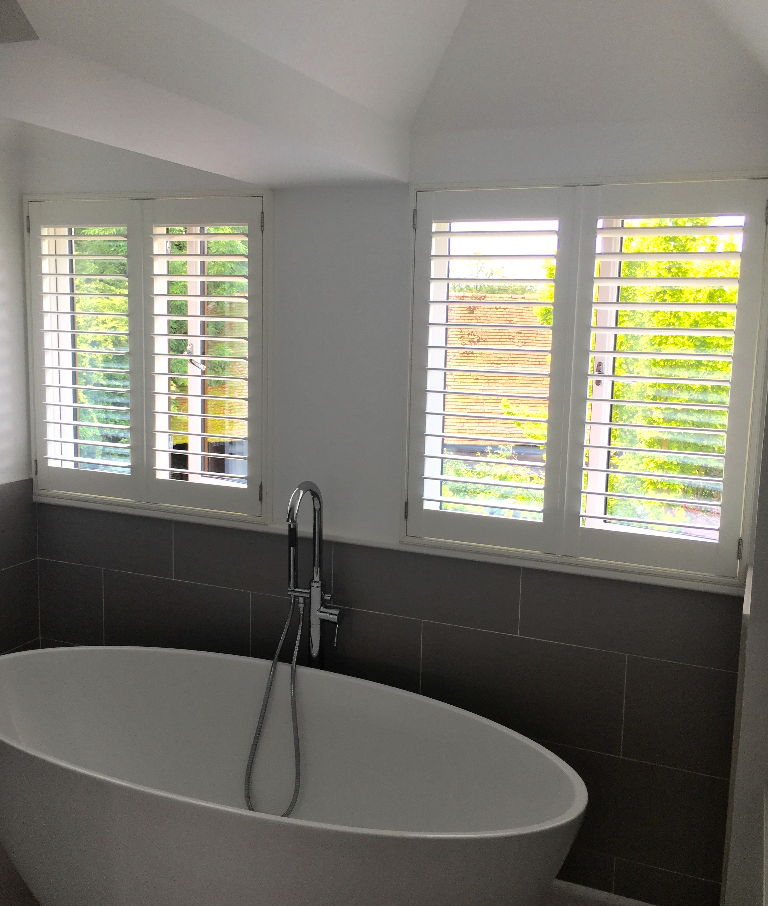 Stunning bathroom shutters